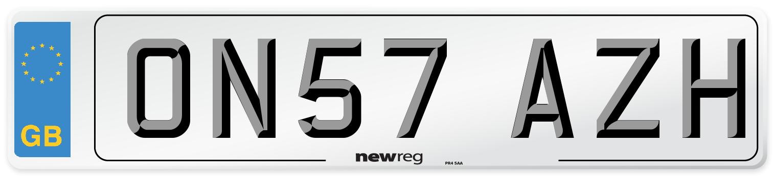 ON57 AZH Number Plate from New Reg