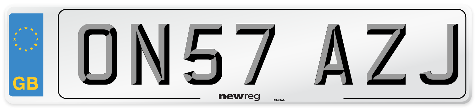 ON57 AZJ Number Plate from New Reg