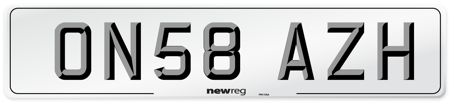 ON58 AZH Number Plate from New Reg