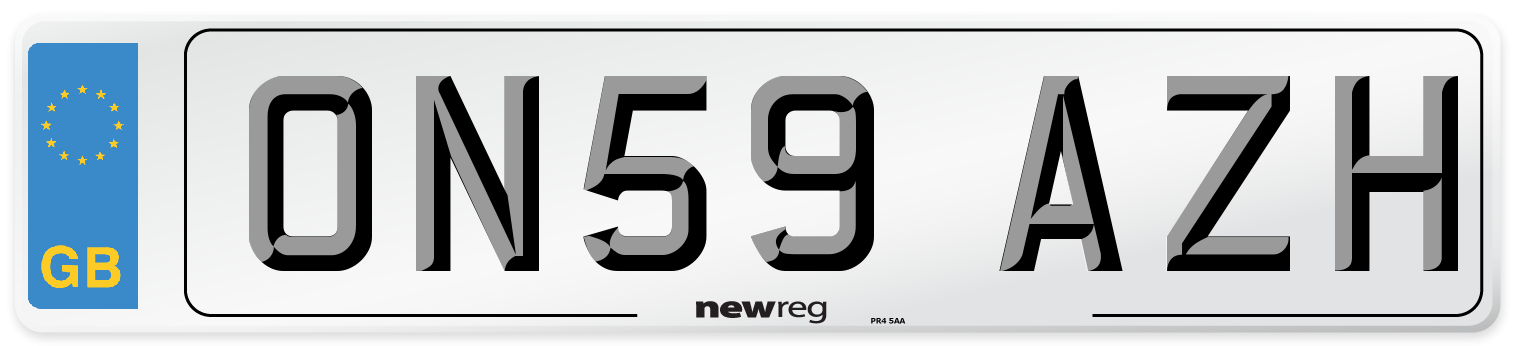 ON59 AZH Number Plate from New Reg