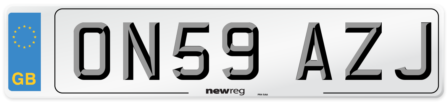 ON59 AZJ Number Plate from New Reg