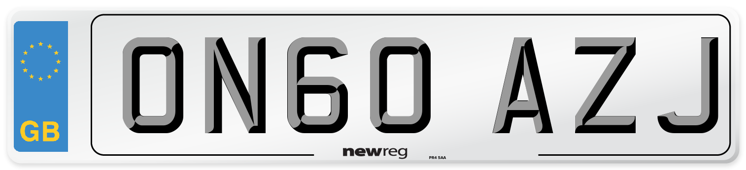ON60 AZJ Number Plate from New Reg