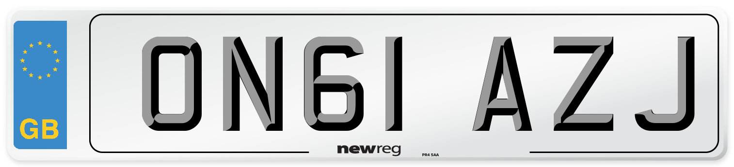 ON61 AZJ Number Plate from New Reg