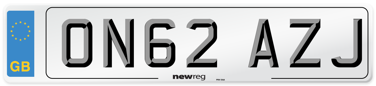 ON62 AZJ Number Plate from New Reg
