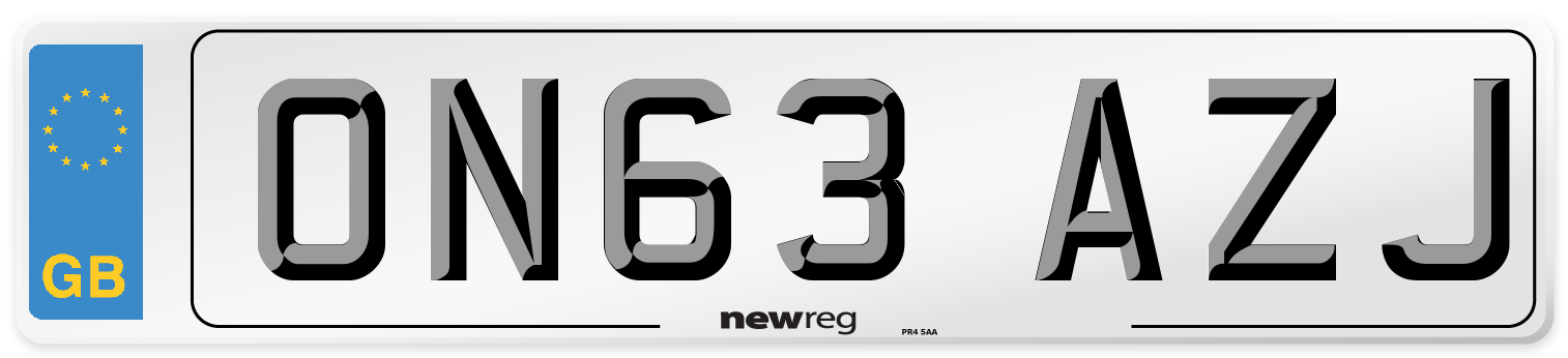 ON63 AZJ Number Plate from New Reg