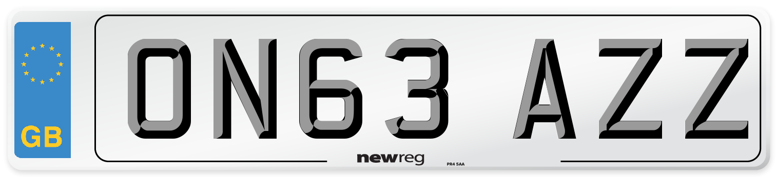 ON63 AZZ Number Plate from New Reg