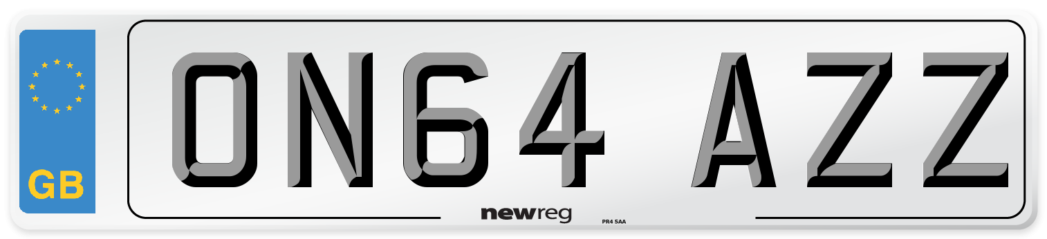 ON64 AZZ Number Plate from New Reg