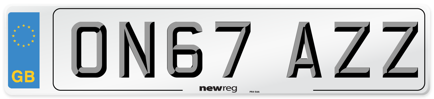 ON67 AZZ Number Plate from New Reg