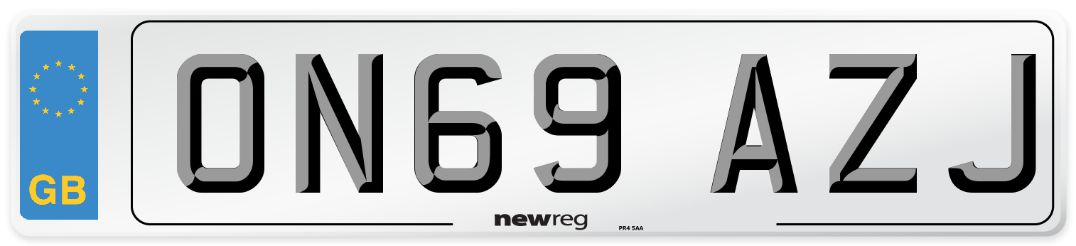 ON69 AZJ Number Plate from New Reg