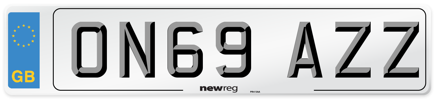 ON69 AZZ Number Plate from New Reg