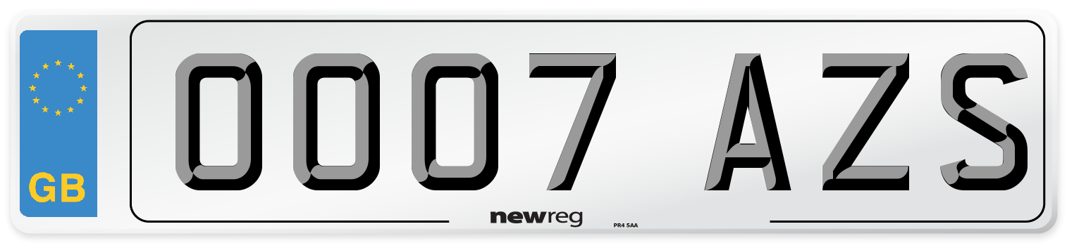 OO07 AZS Number Plate from New Reg