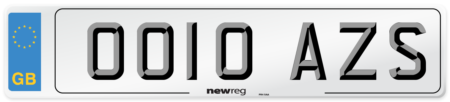 OO10 AZS Number Plate from New Reg