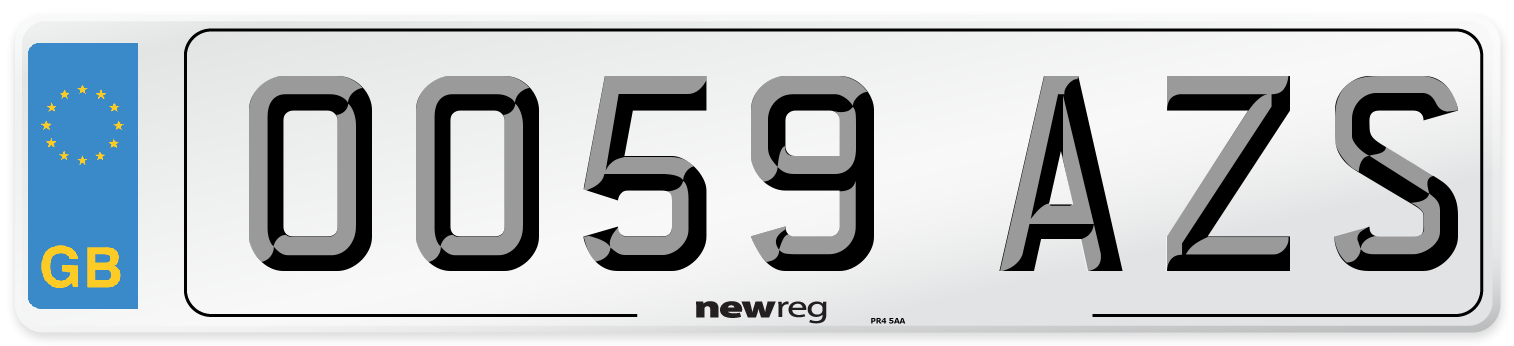 OO59 AZS Number Plate from New Reg