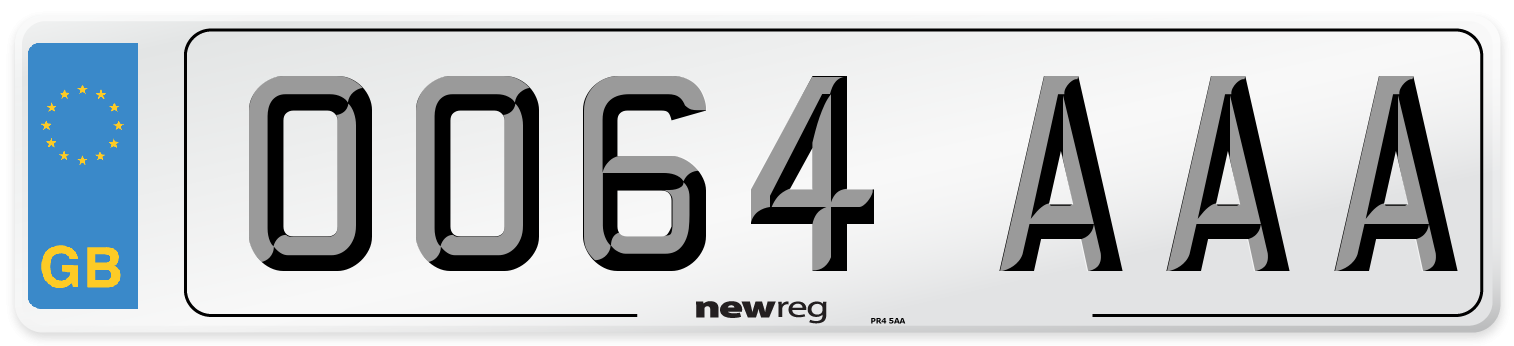 OO64 AAA Number Plate from New Reg
