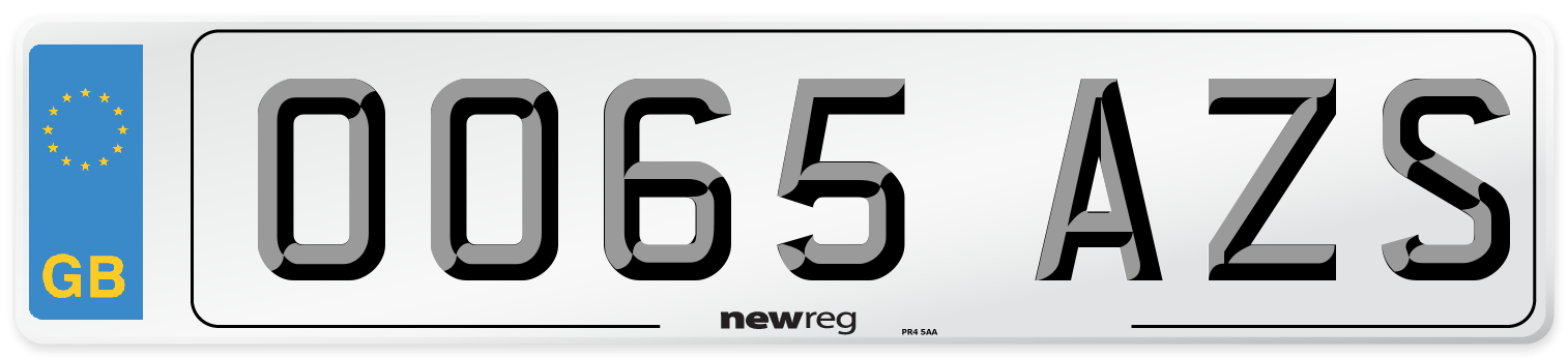 OO65 AZS Number Plate from New Reg
