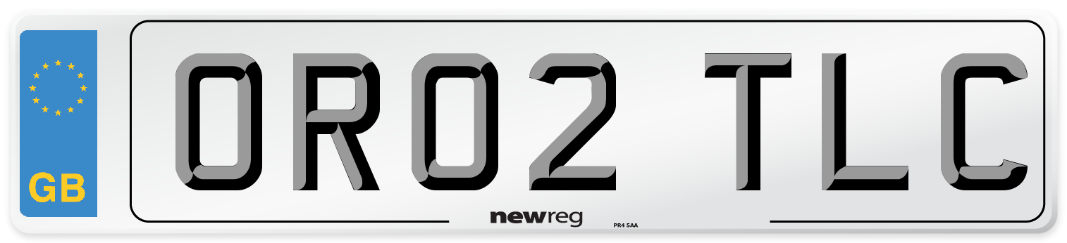OR02 TLC Number Plate from New Reg