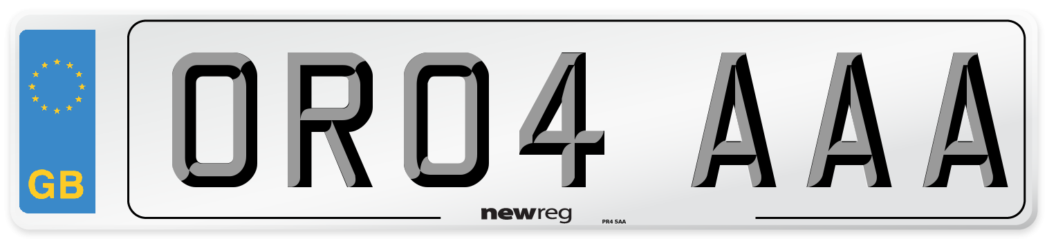 OR04 AAA Number Plate from New Reg