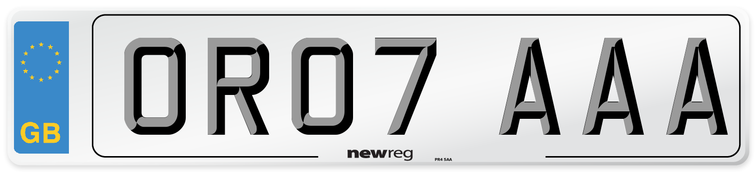 OR07 AAA Number Plate from New Reg