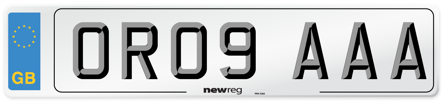 OR09 AAA Number Plate from New Reg