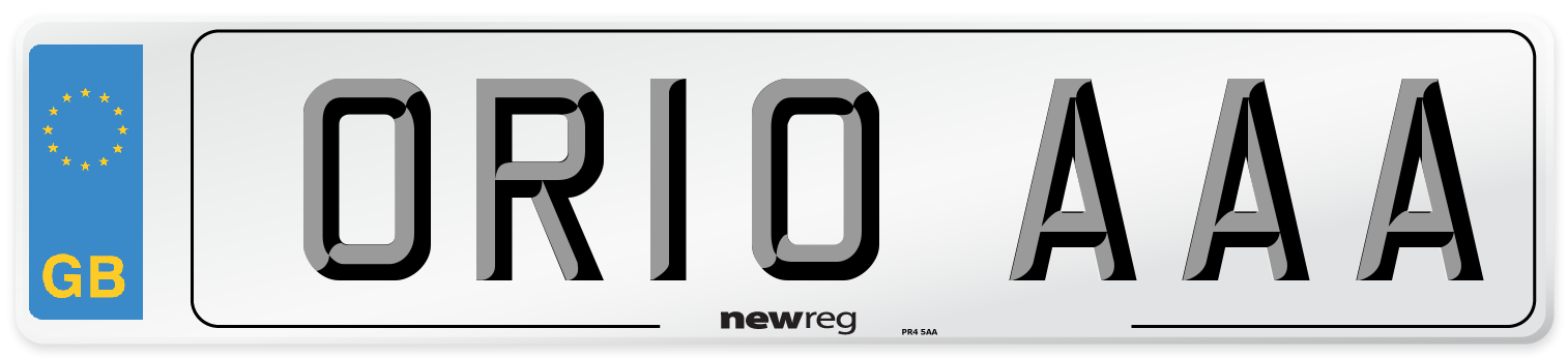 OR10 AAA Number Plate from New Reg