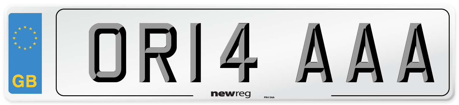 OR14 AAA Number Plate from New Reg