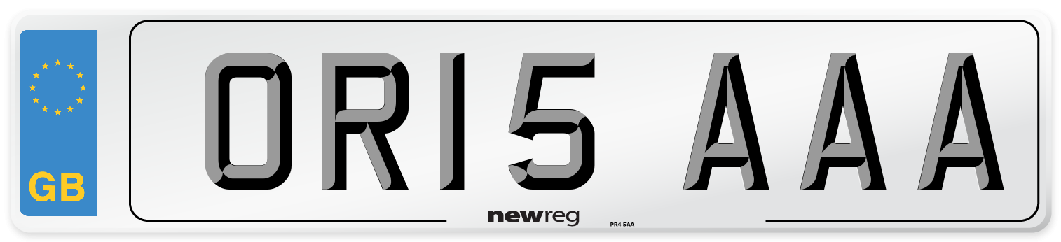 OR15 AAA Number Plate from New Reg