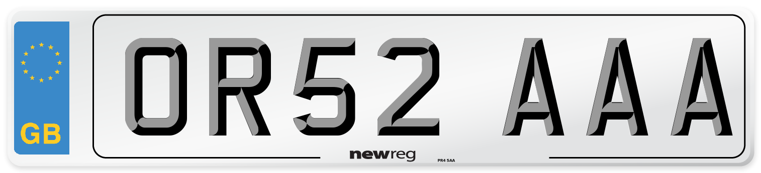 OR52 AAA Number Plate from New Reg