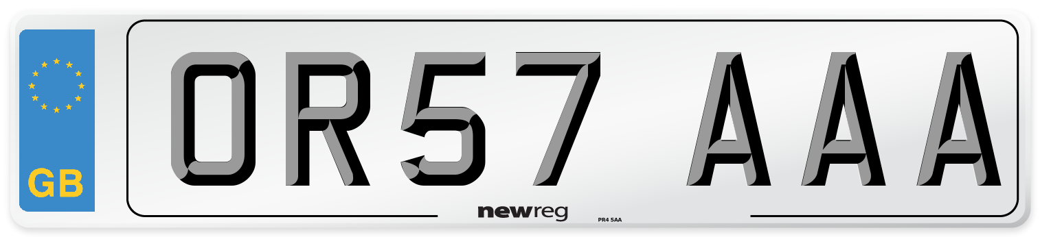 OR57 AAA Number Plate from New Reg
