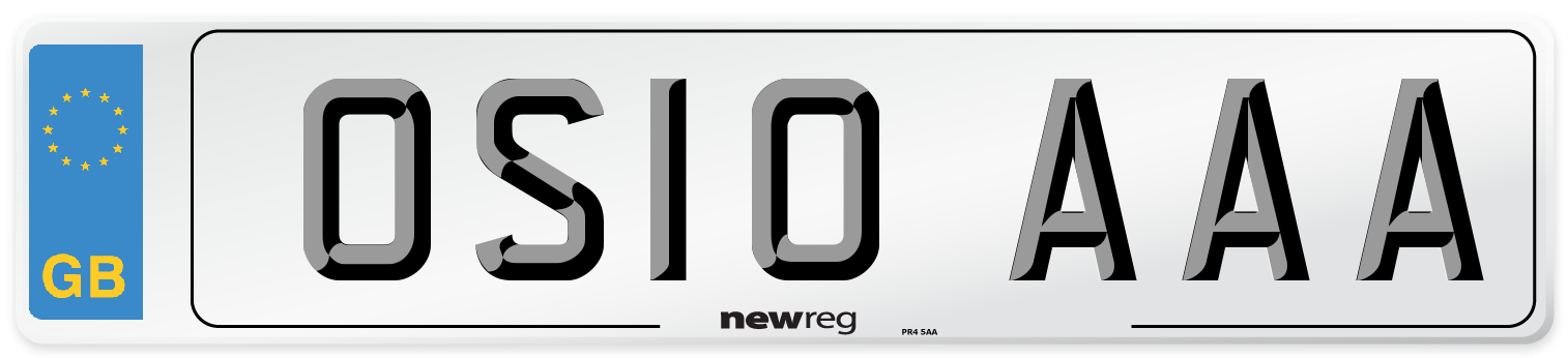 OS10 AAA Number Plate from New Reg