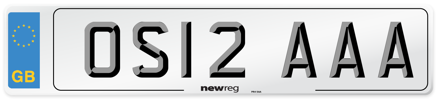 OS12 AAA Number Plate from New Reg