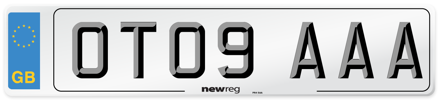 OT09 AAA Number Plate from New Reg