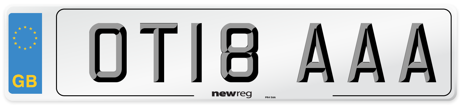 OT18 AAA Number Plate from New Reg