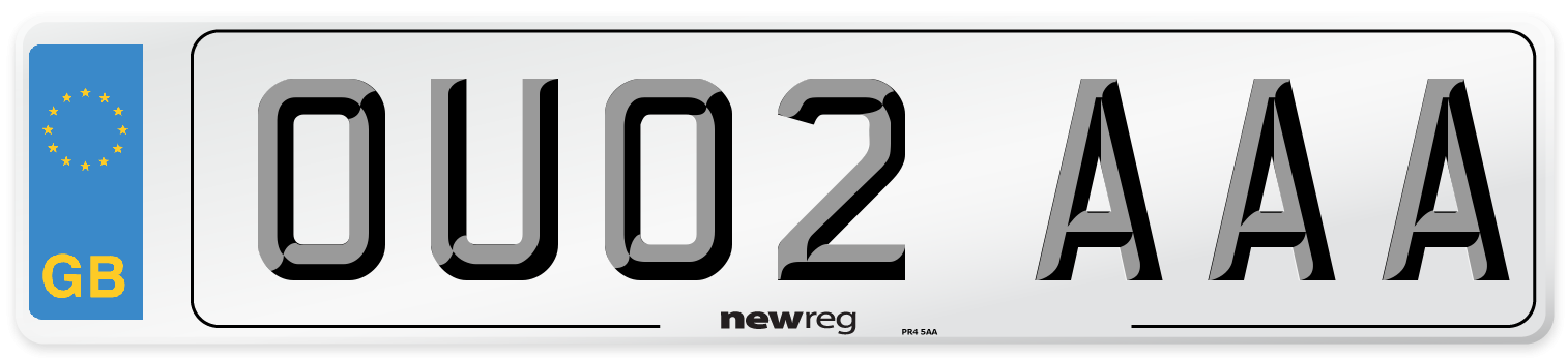 OU02 AAA Number Plate from New Reg
