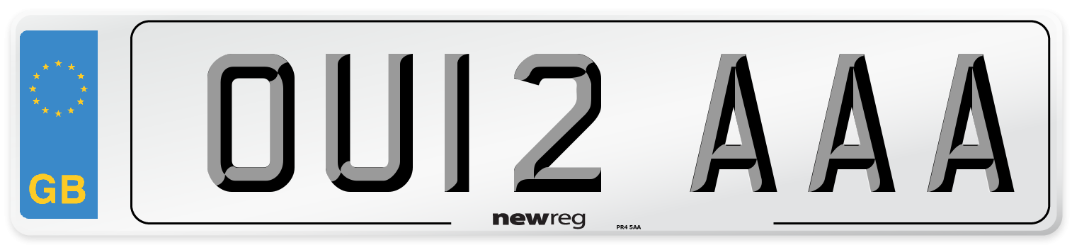 OU12 AAA Number Plate from New Reg