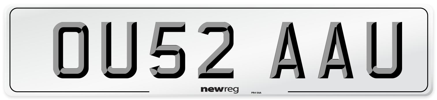 OU52 AAU Number Plate from New Reg