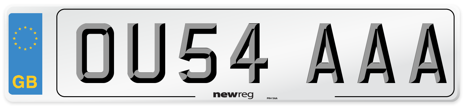 OU54 AAA Number Plate from New Reg