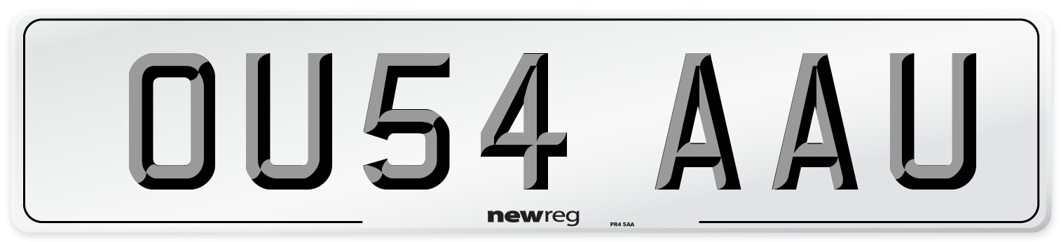 OU54 AAU Number Plate from New Reg