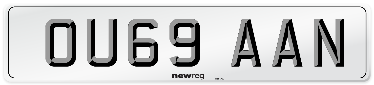 OU69 AAN Number Plate from New Reg