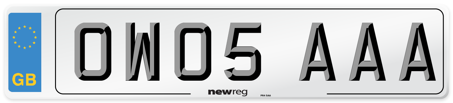OW05 AAA Number Plate from New Reg