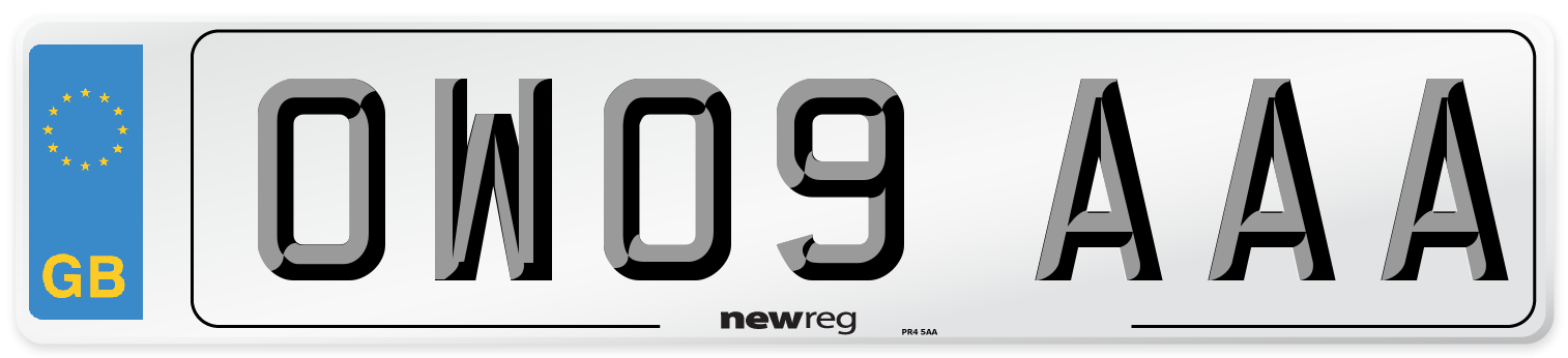 OW09 AAA Number Plate from New Reg