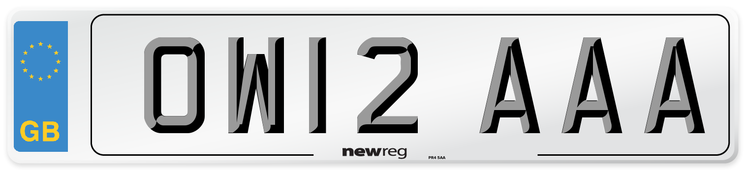 OW12 AAA Number Plate from New Reg