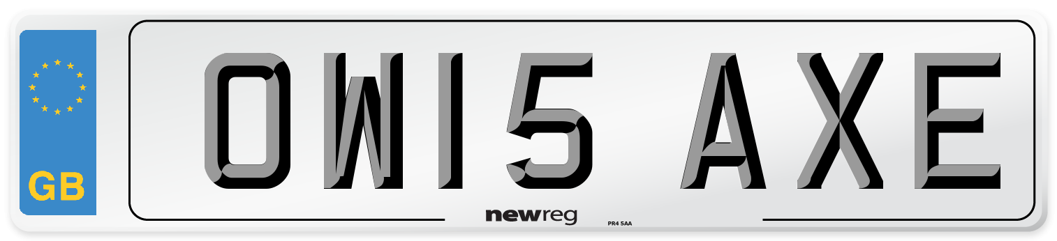 OW15 AXE Number Plate from New Reg
