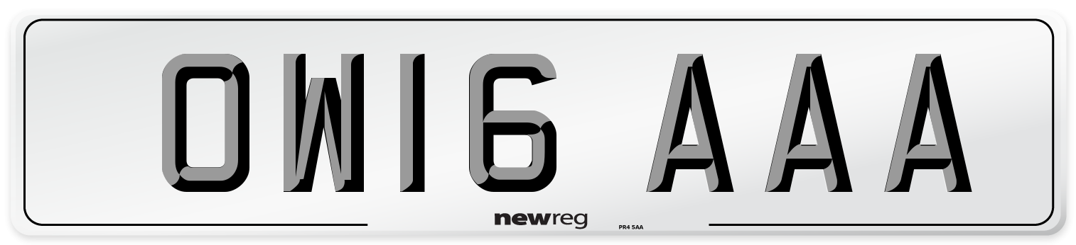 OW16 AAA Number Plate from New Reg