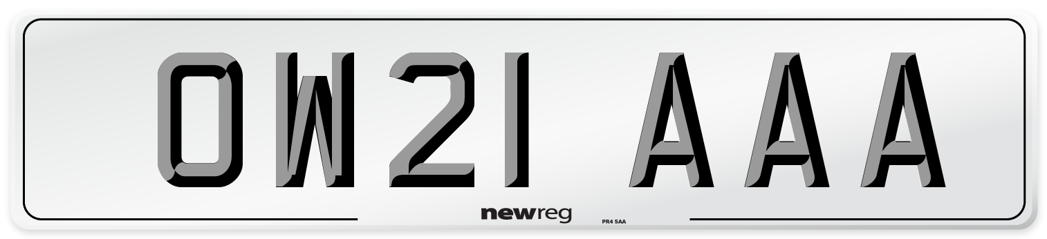 OW21 AAA Number Plate from New Reg