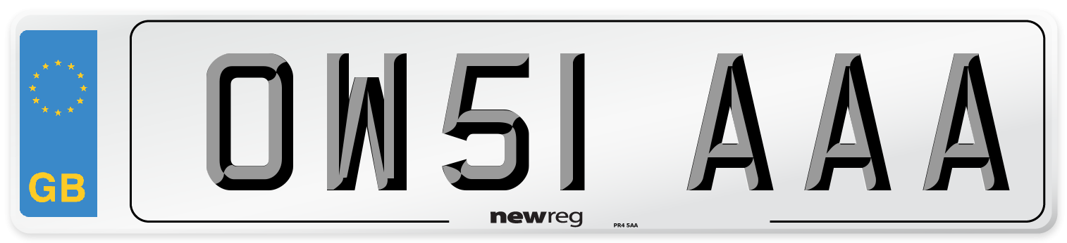 OW51 AAA Number Plate from New Reg