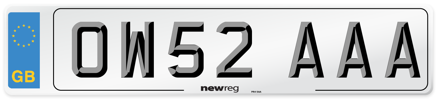 OW52 AAA Number Plate from New Reg