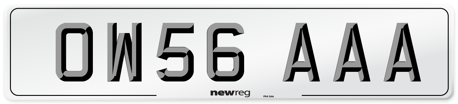 OW56 AAA Number Plate from New Reg