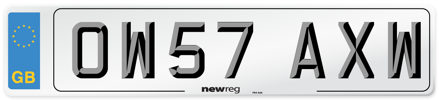 OW57 AXW Number Plate from New Reg