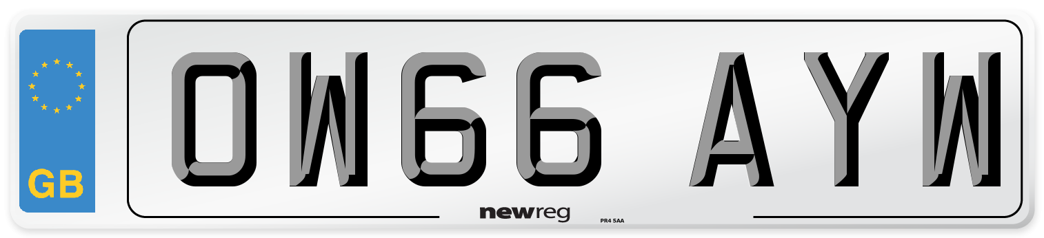 OW66 AYW Number Plate from New Reg