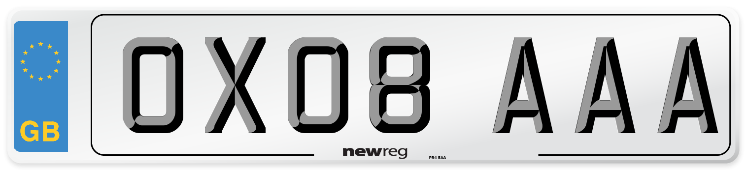 OX08 AAA Number Plate from New Reg